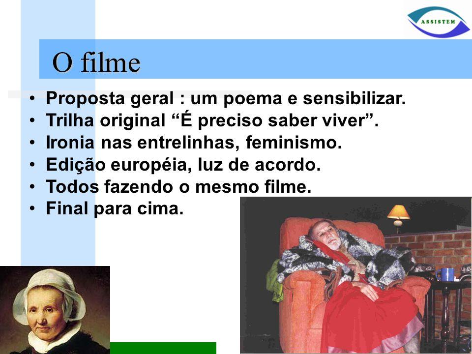 O filme Proposta geral : um poema e sensibilizar.