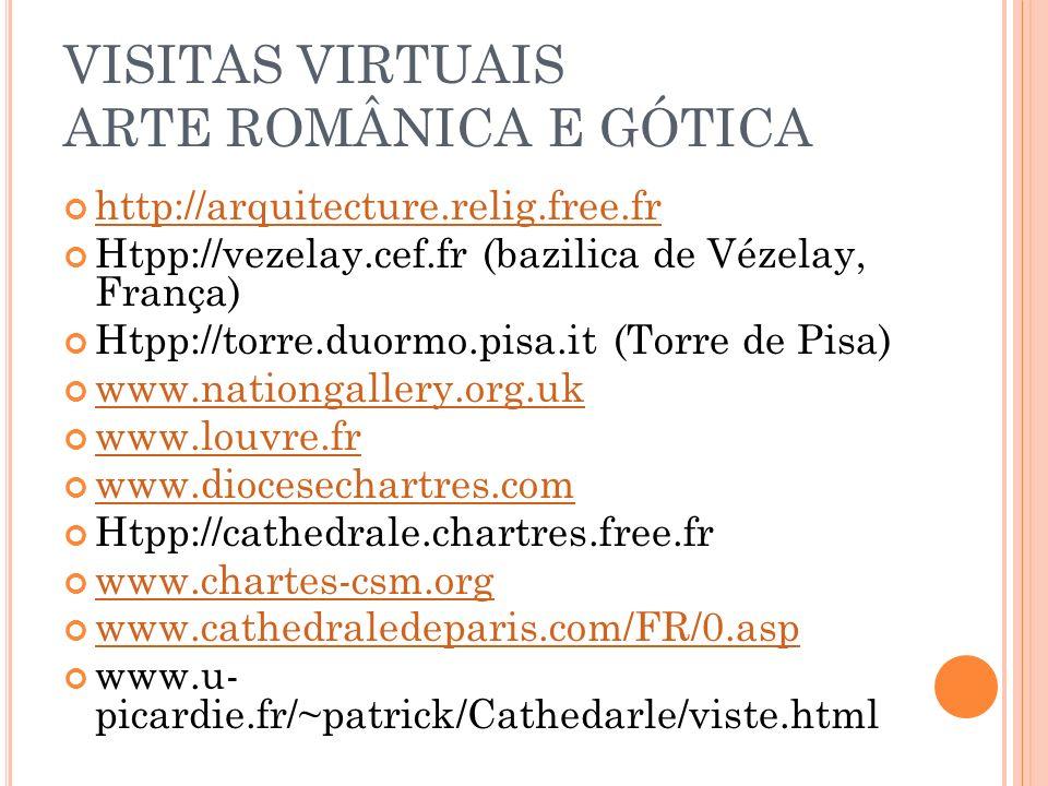 VISITAS VIRTUAIS ARTE ROMÂNICA E GÓTICA