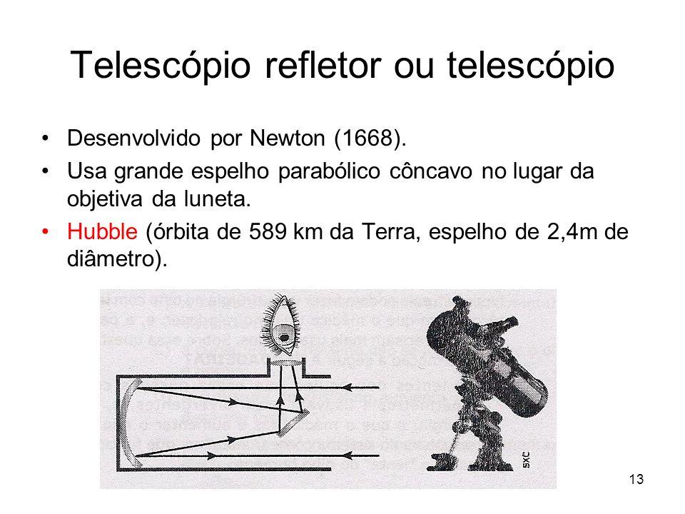 Telescópio refletor ou telescópio