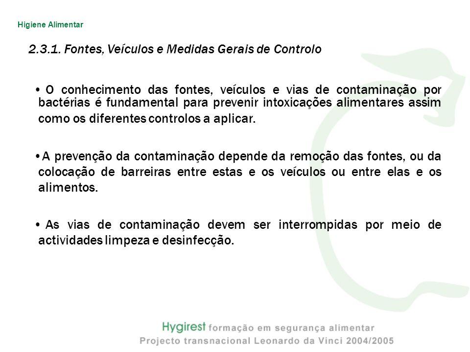 2.3.1. Fontes, Veículos e Medidas Gerais de Controlo