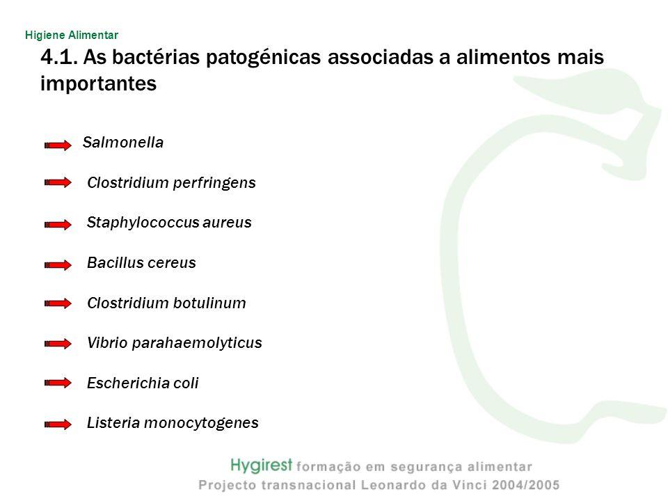4.1. As bactérias patogénicas associadas a alimentos mais importantes