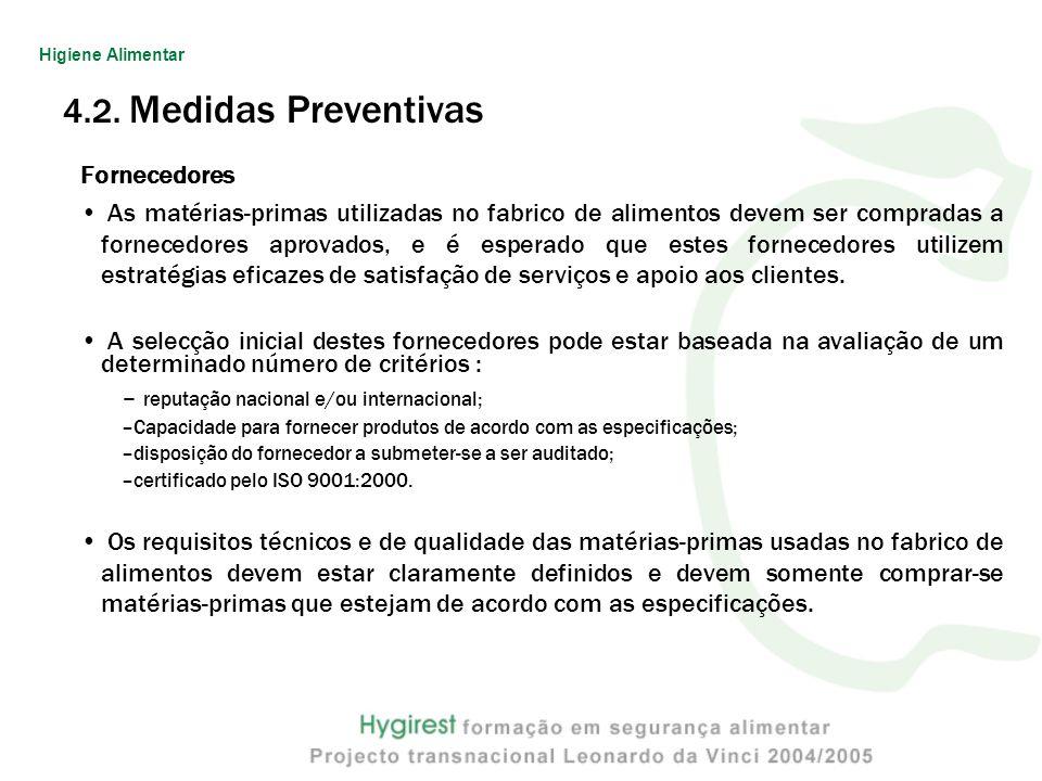 4.2. Medidas Preventivas Fornecedores