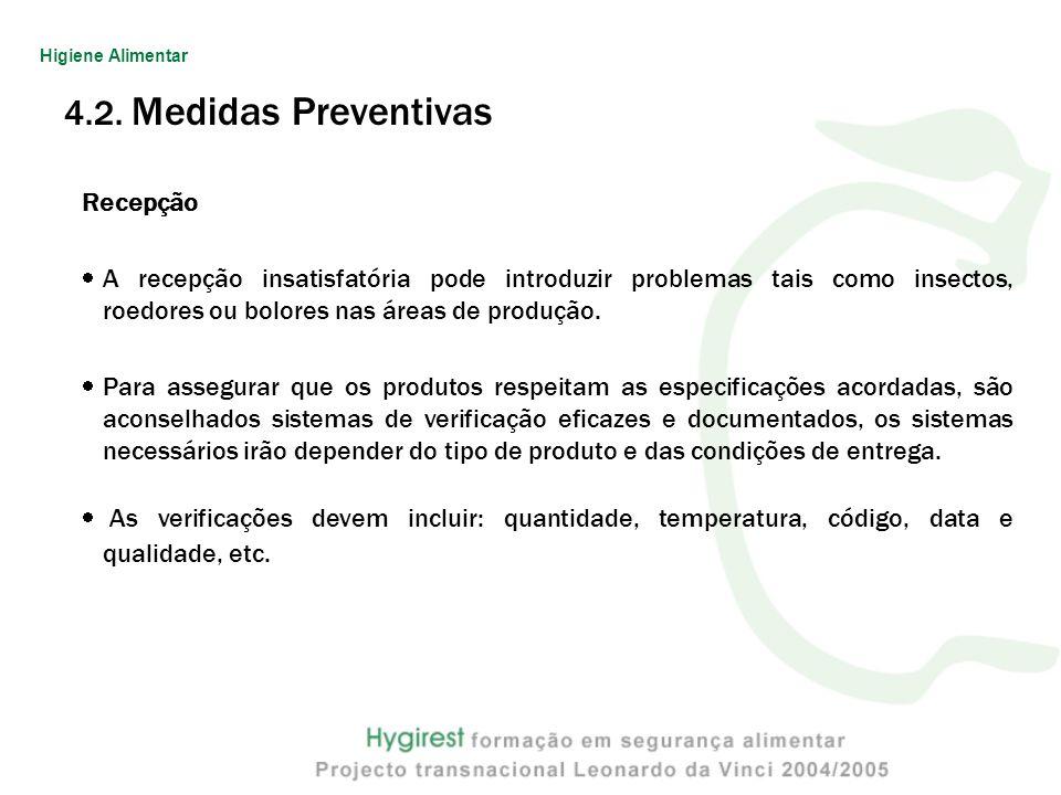 4.2. Medidas Preventivas Recepção