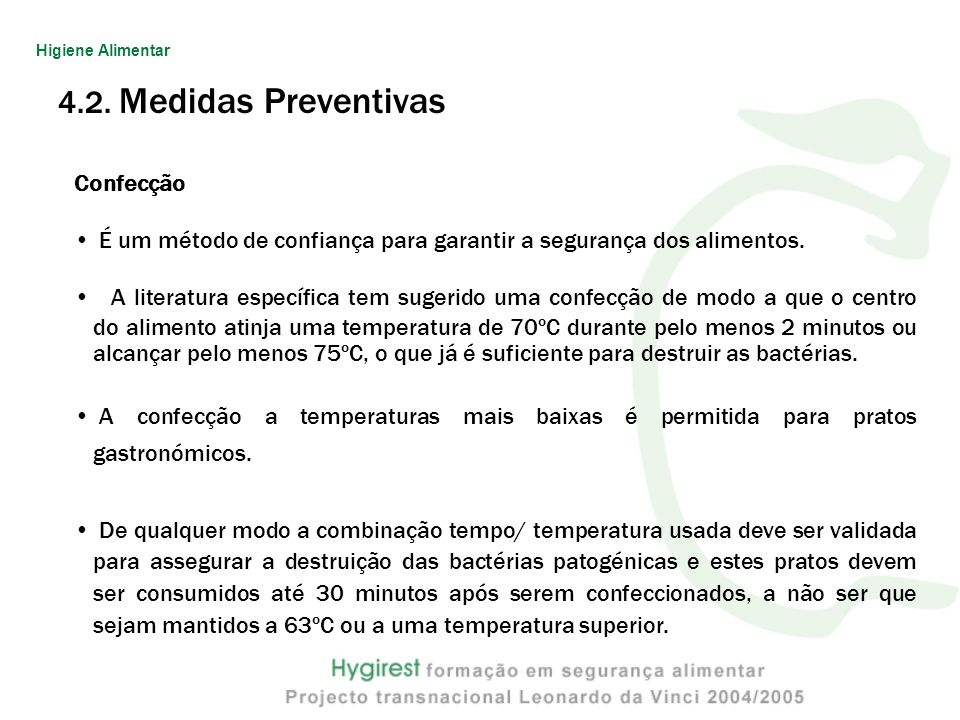 4.2. Medidas Preventivas Confecção