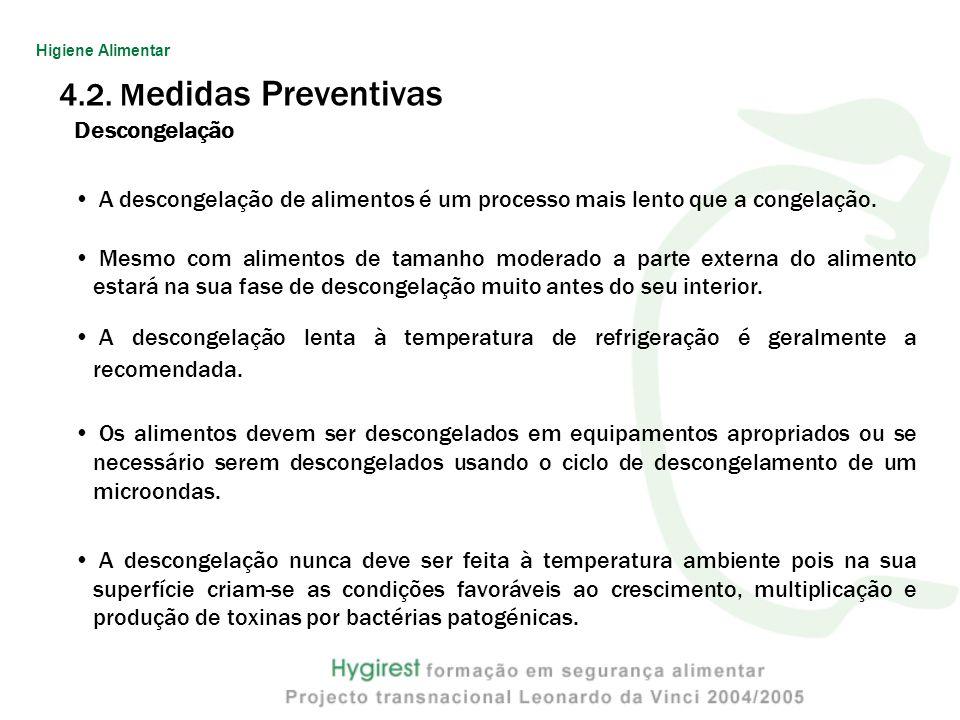 4.2. Medidas Preventivas Descongelação