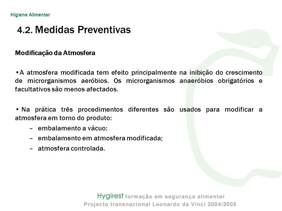 4.2. Medidas Preventivas Modificação da Atmosfera