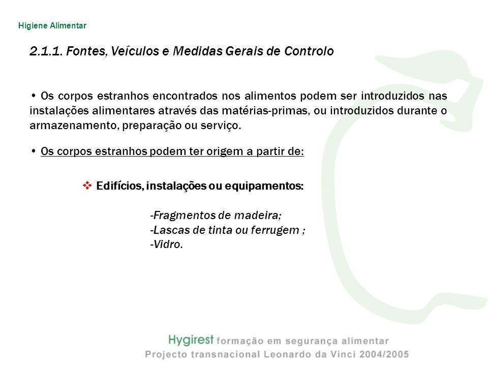 2.1.1. Fontes, Veículos e Medidas Gerais de Controlo