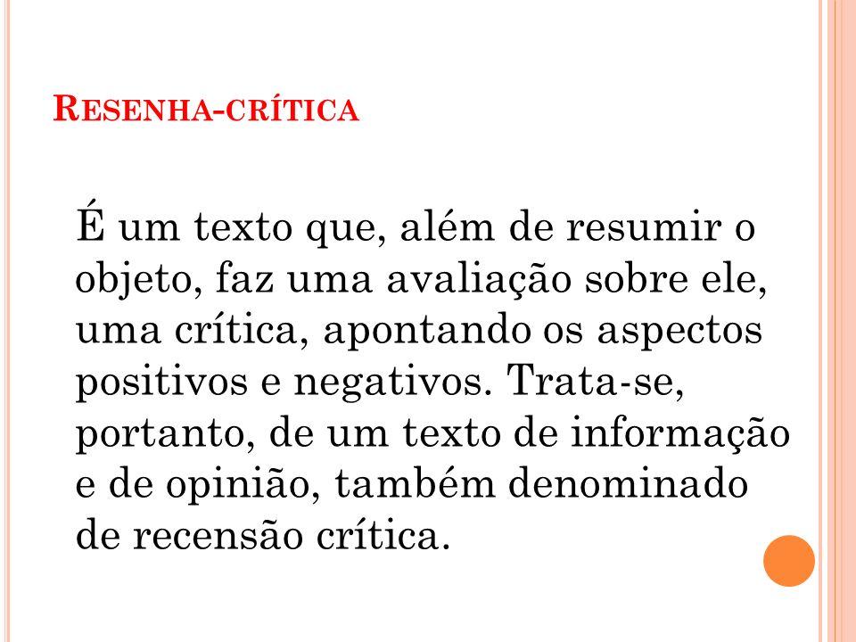 Resenha-crítica