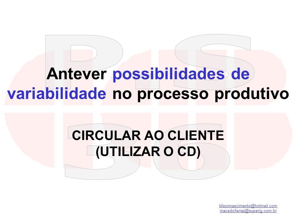 Antever possibilidades de variabilidade no processo produtivo