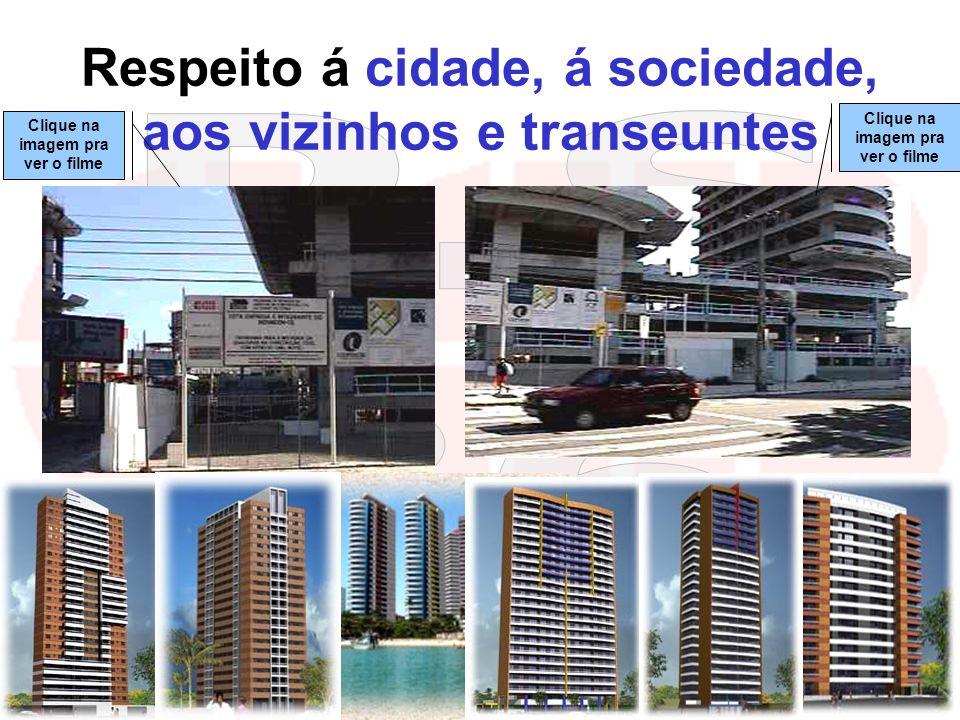 Respeito á cidade, á sociedade, aos vizinhos e transeuntes