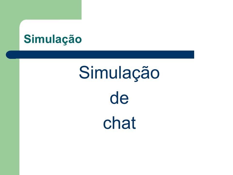 Simulação Simulação de chat