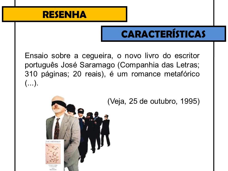 RESENHA CARACTERÍSTICAS