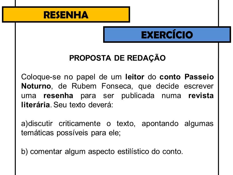 RESENHA EXERCÍCIO PROPOSTA DE REDAÇÃO