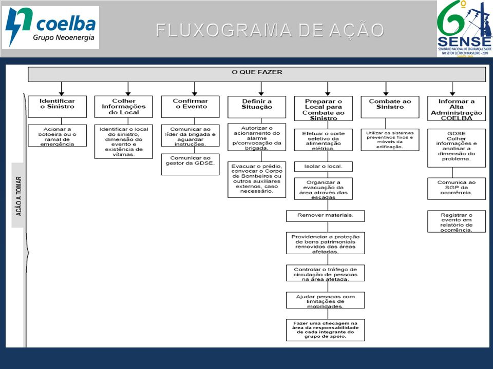 FLUXOGRAMA DE AÇÃO