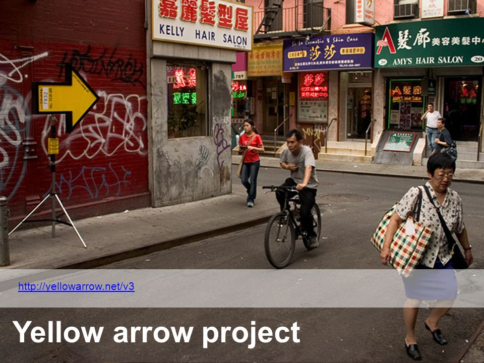 http://yellowarrow.net/v3 Yellow arrow project
