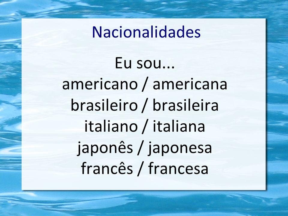 brasileiro / brasileira