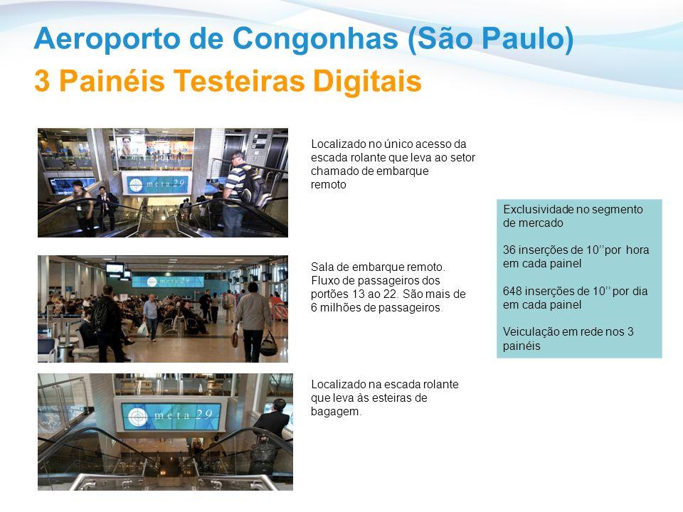 Aeroporto de Congonhas (São Paulo) 3 Painéis Testeiras Digitais
