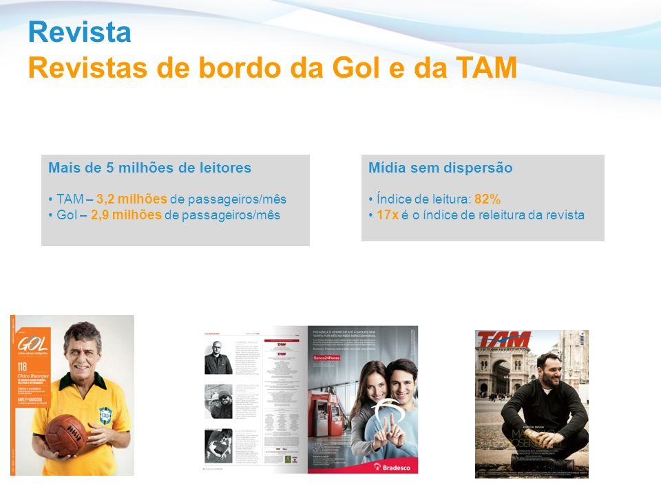 Revistas de bordo da Gol e da TAM