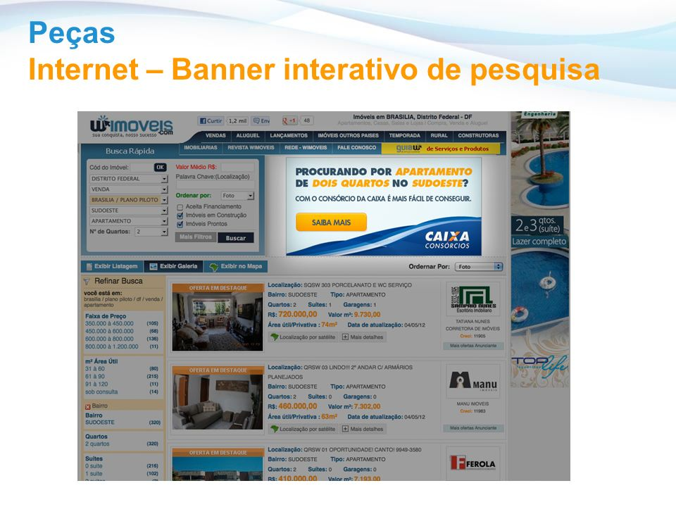 Peças Internet – Banner interativo de pesquisa
