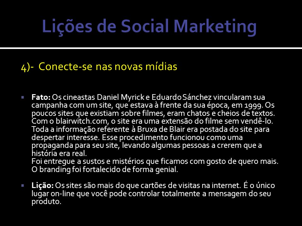 Lições de Social Marketing