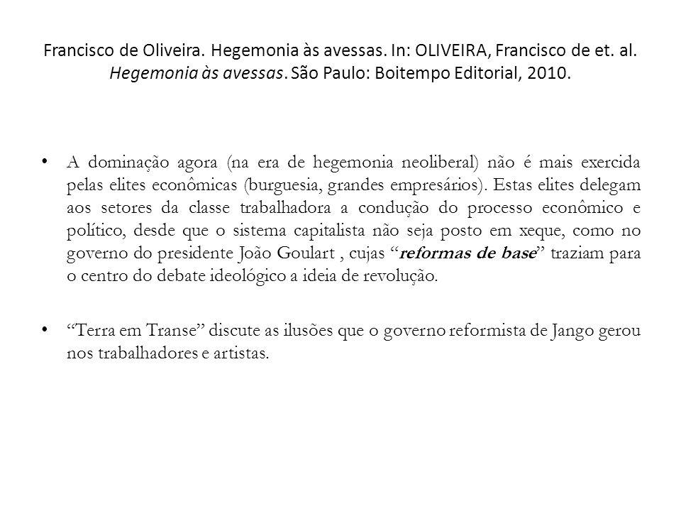 Francisco de Oliveira. Hegemonia às avessas