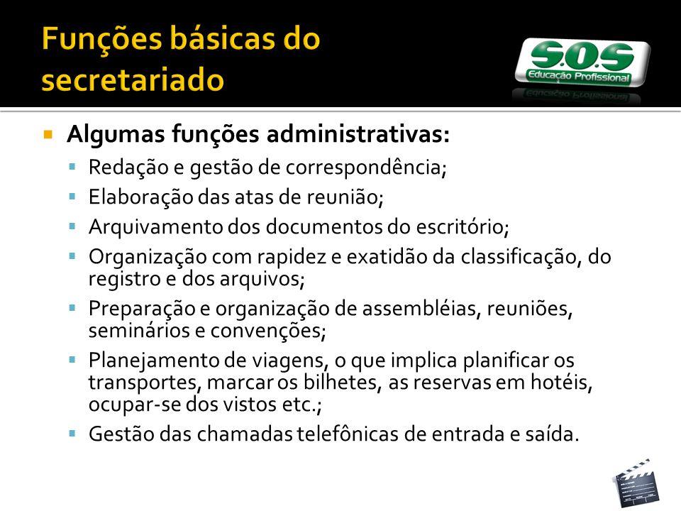 Funções básicas do secretariado