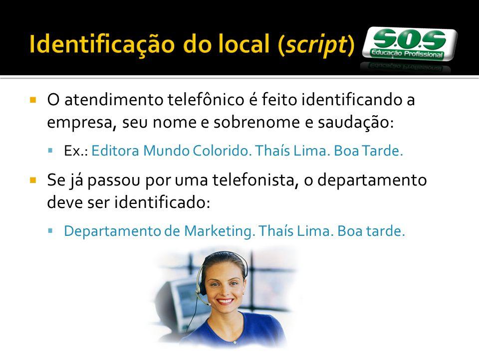 Identificação do local (script)
