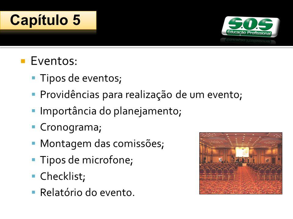 Capítulo 5 Eventos: Tipos de eventos;