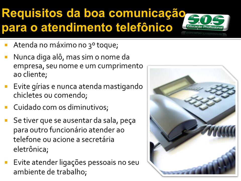 Requisitos da boa comunicação para o atendimento telefônico