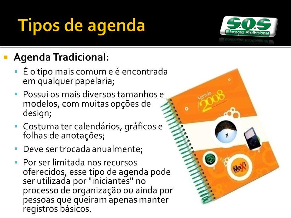 Tipos de agenda Agenda Tradicional: