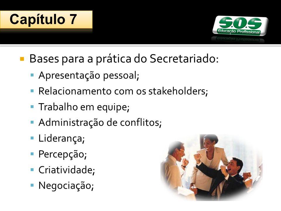 Capítulo 7 Bases para a prática do Secretariado: Apresentação pessoal;