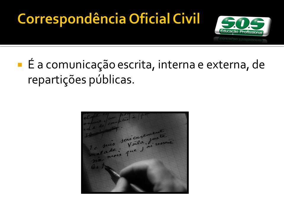 Correspondência Oficial Civil