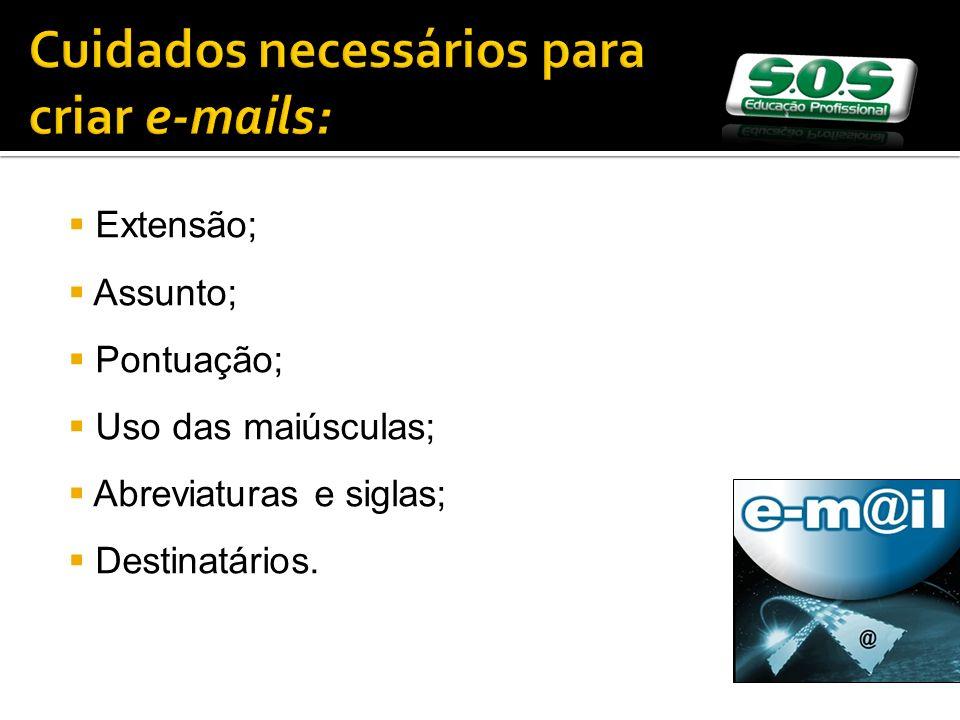Cuidados necessários para criar e-mails: