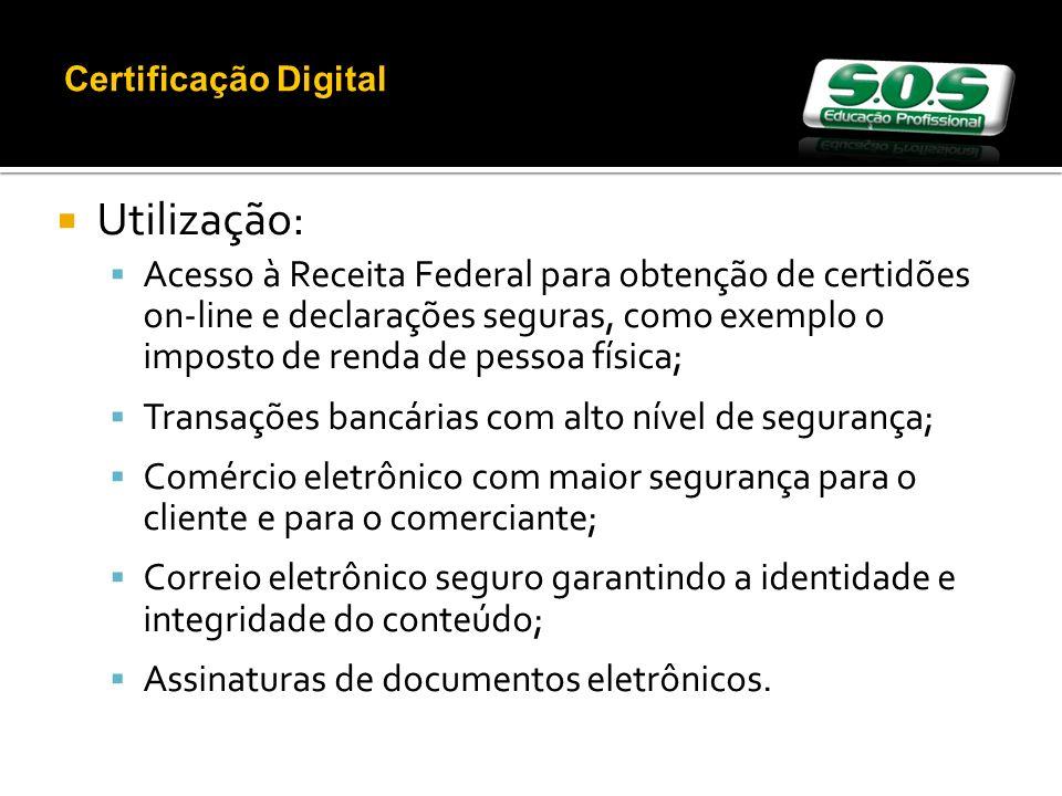 Certificação Digital Utilização:
