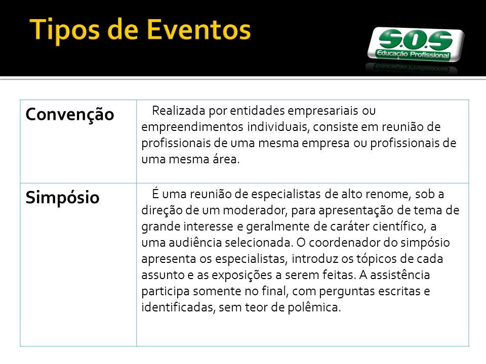 Tipos de Eventos Convenção Simpósio