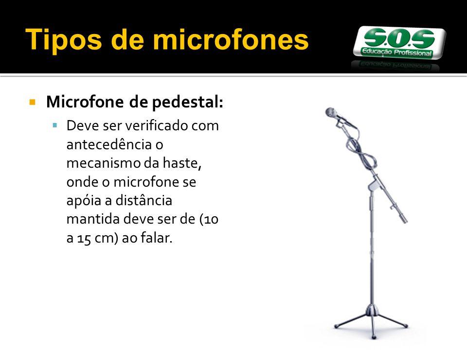 Tipos de microfones Microfone de pedestal:
