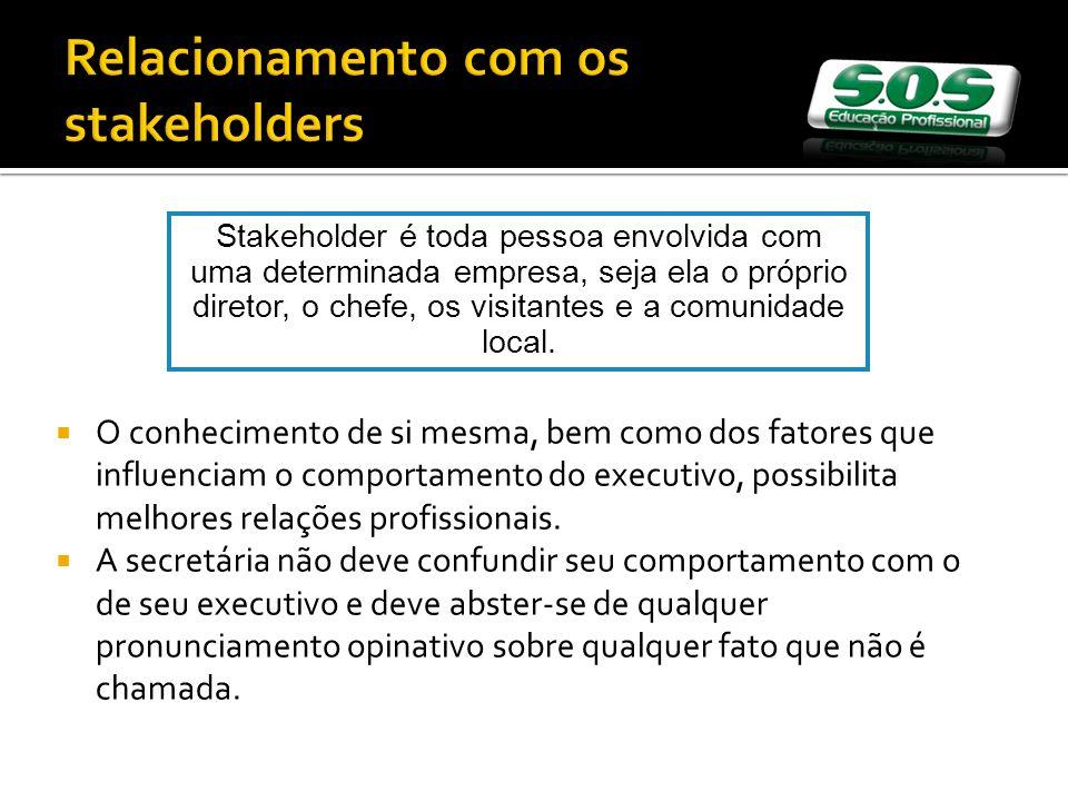 Relacionamento com os stakeholders