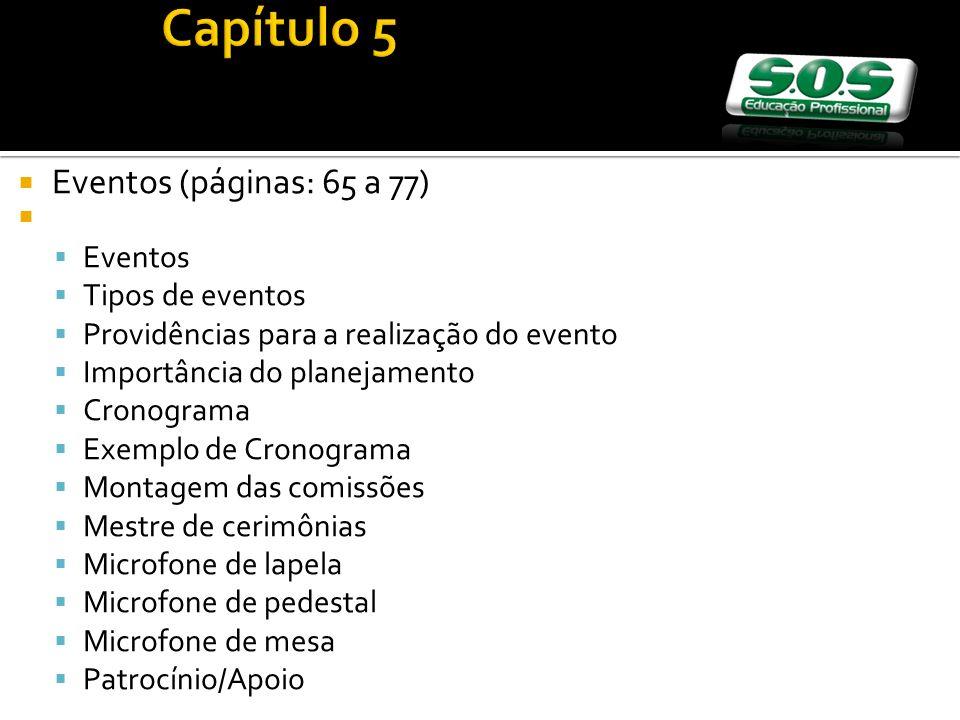 Capítulo 5 Eventos (páginas: 65 a 77) Eventos Tipos de eventos