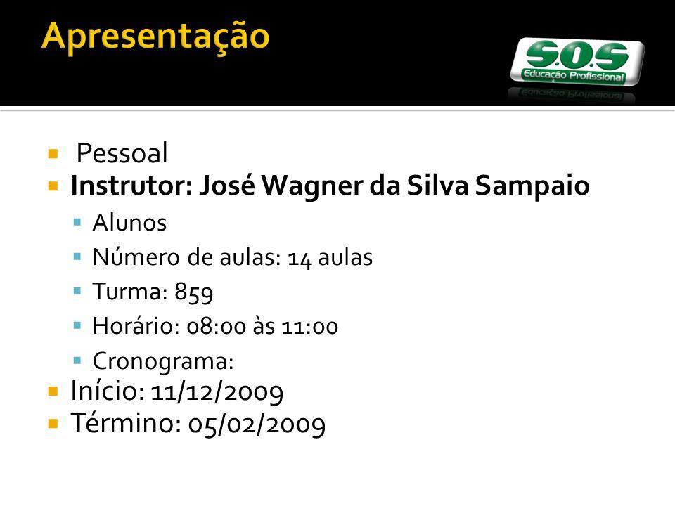 Apresentação Pessoal Instrutor: José Wagner da Silva Sampaio