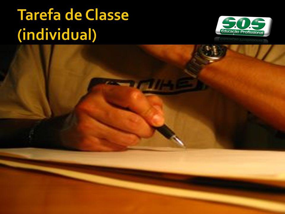 Tarefa de Classe (individual)