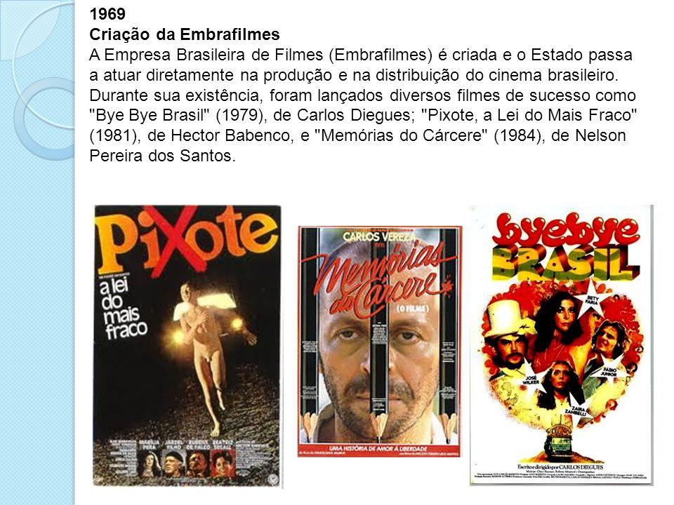 1969 Criação da Embrafilmes.