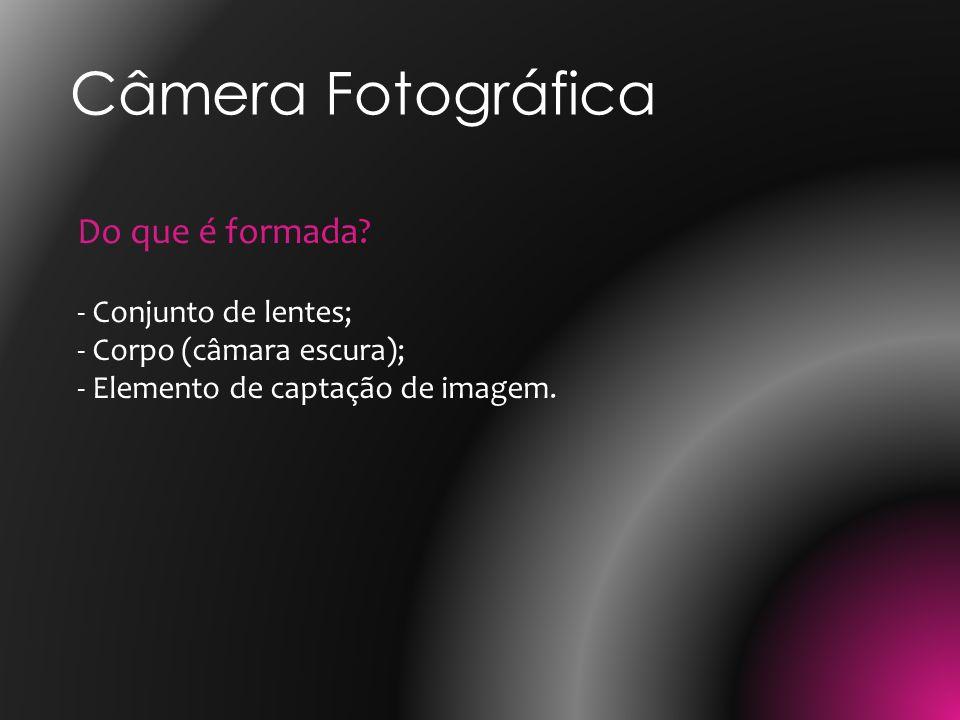 Câmera Fotográfica Do que é formada.