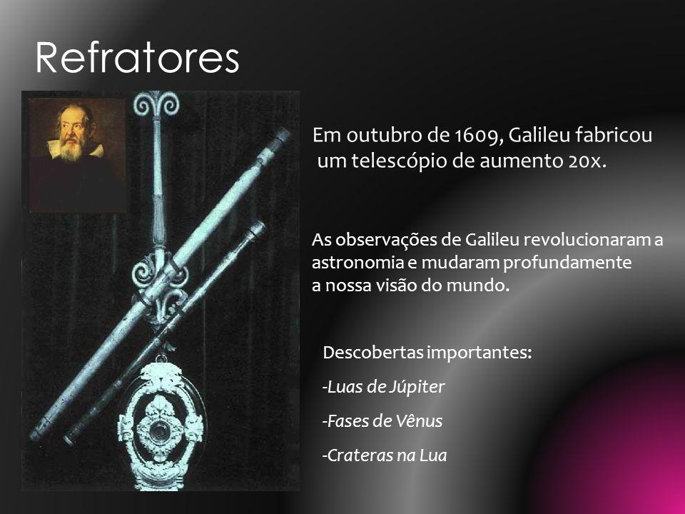 Refratores Em outubro de 1609, Galileu fabricou