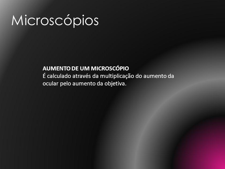 Microscópios AUMENTO DE UM MICROSCÓPIO