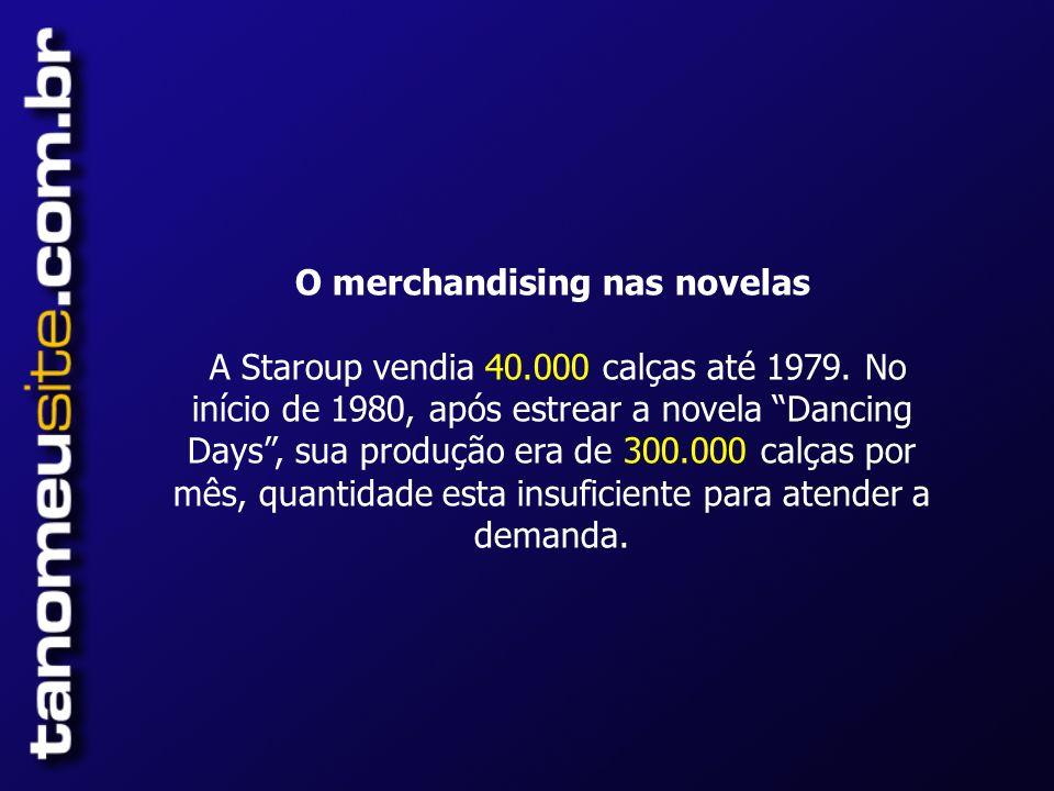 O merchandising nas novelas A Staroup vendia 40. 000 calças até 1979
