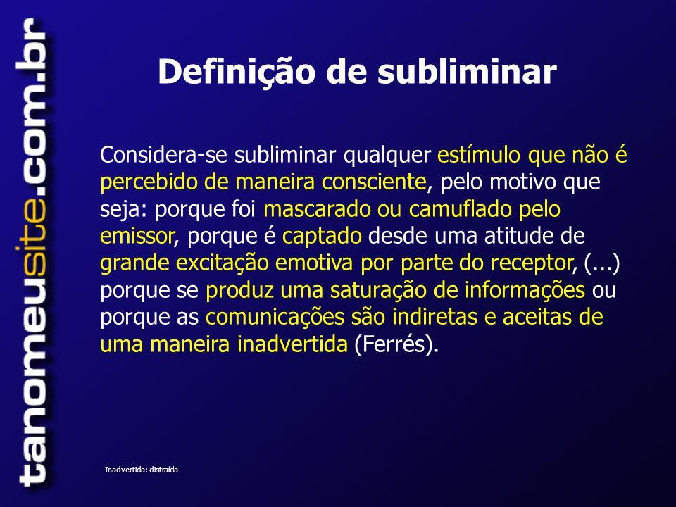 Definição de subliminar