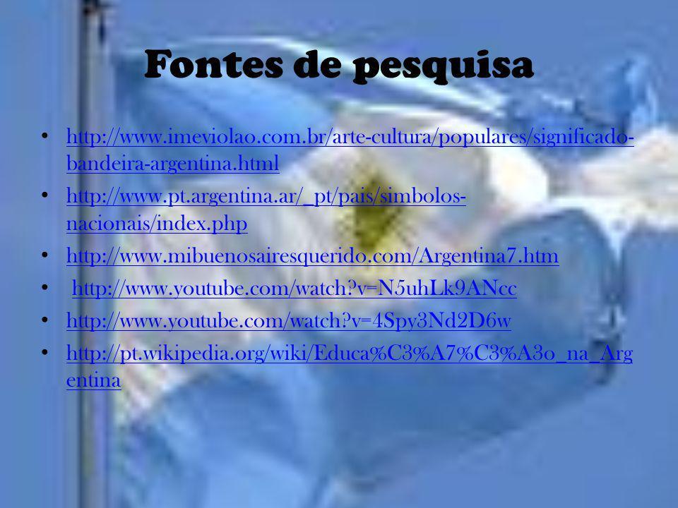 Fontes de pesquisa http://www.imeviolao.com.br/arte-cultura/populares/significado-bandeira-argentina.html.