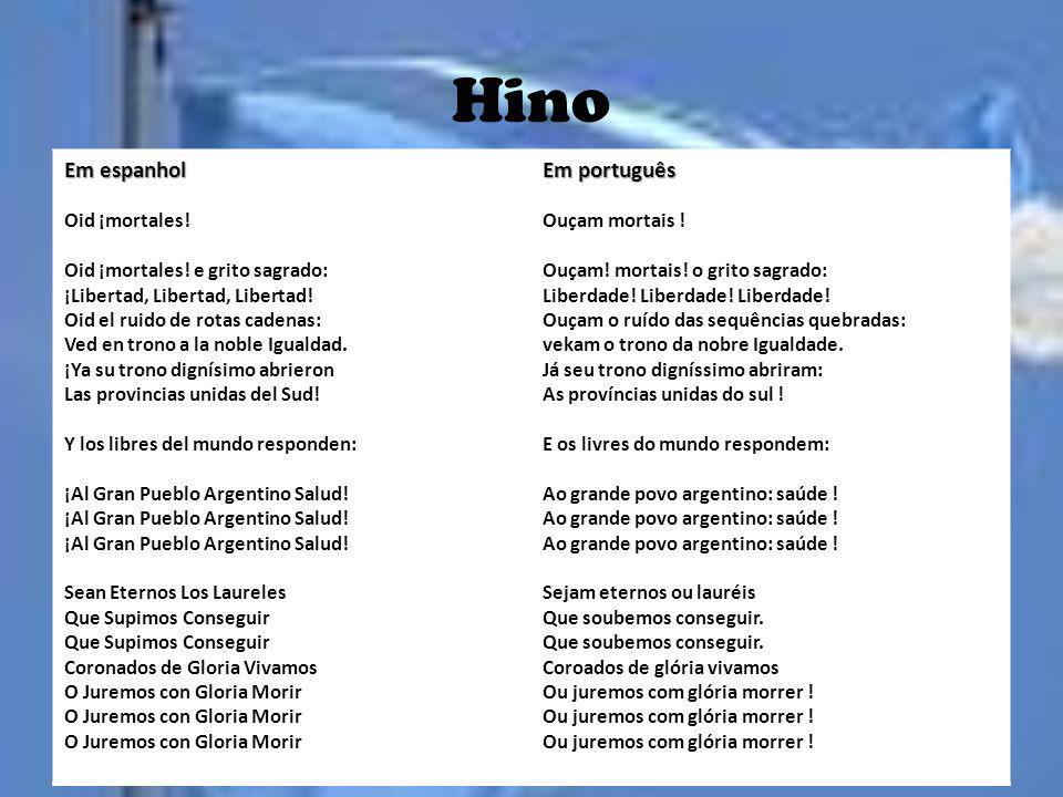 Hino Em espanhol Em português