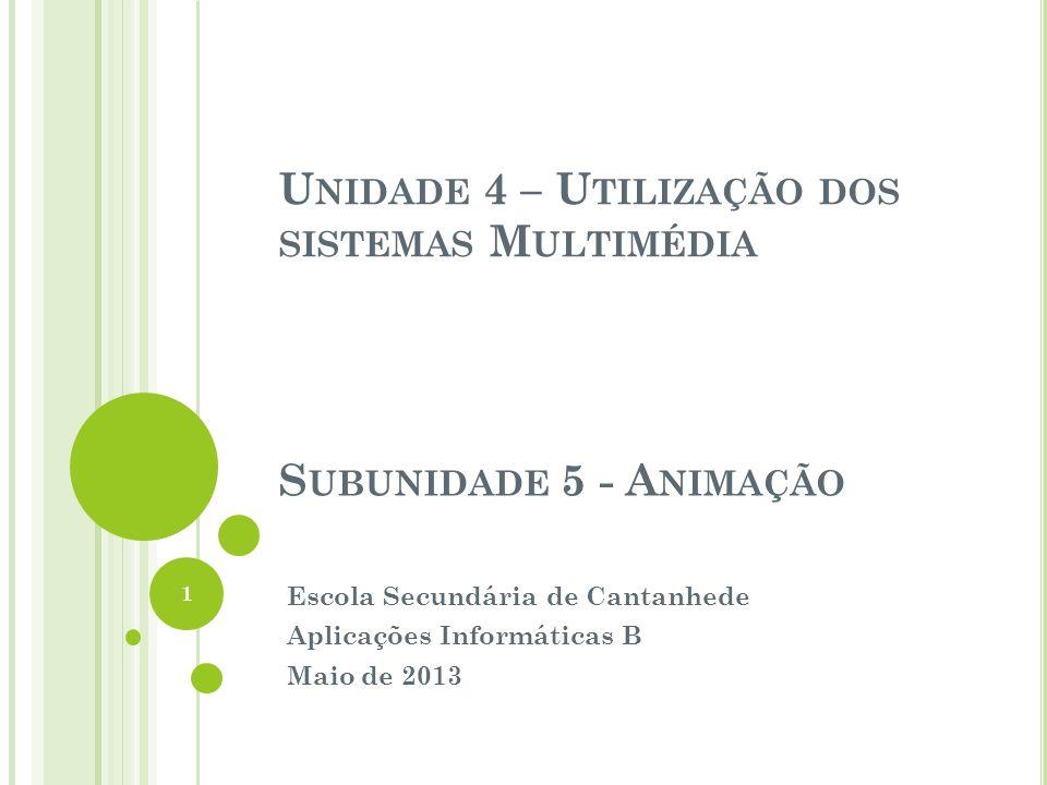 Escola Secundária de Cantanhede Aplicações Informáticas B Maio de 2013
