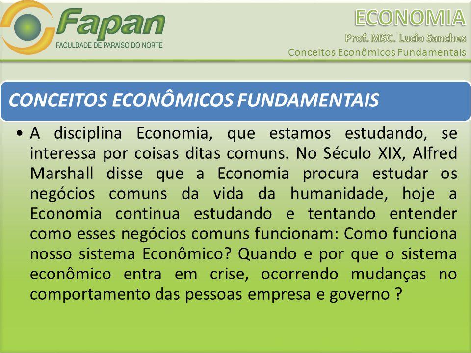 CONCEITOS ECONÔMICOS FUNDAMENTAIS